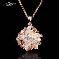 Exagérée Starfish Cubique Zircone Pavée Cristal Vintage Collier et Pendentifs Élégant De Bijoux De Mariage Pour Les Femmes DFN056