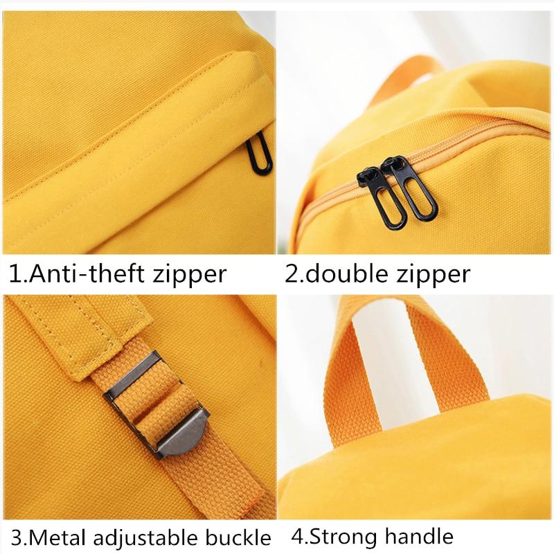 HTB1.3b lYZnBKNjSZFhq6A.oXXaY Moon Wood Women's Backpack Canvas Printed Heart Yellow Backpack Korean Style Students Travel Bag Girl School Bag Laptop Backpack
