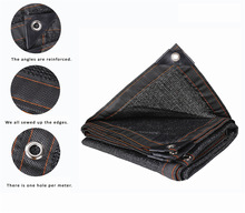 Various Size Black Sun Shelter Mesh HDPE Shade Net with hang hole for Camping Garden Greenhouse Car Roof Shade Cover Awning