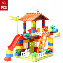 89pcs Large particle building blocks children toys Early education plastic DIY for Christmas Gifts brinquedos