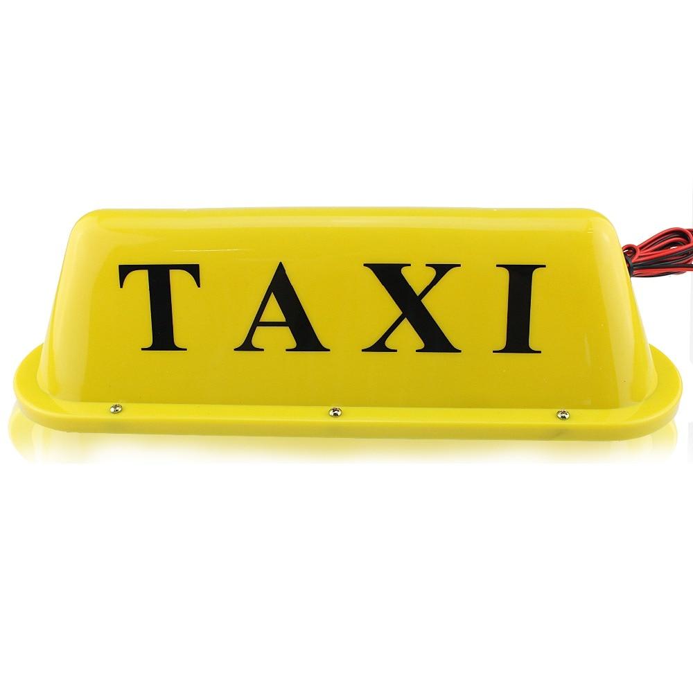 IZTOSS 12V 24V LED Long Car Auto Dome Roof Cab Magnetic Taxi Hire Light Lamp Yellow taxi top light send 2pcs bulb as gift