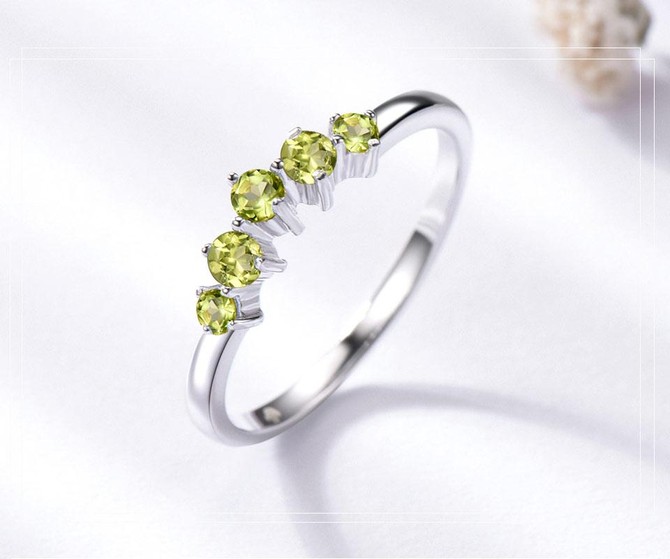 925 sterling silver natural peridot ring(3)