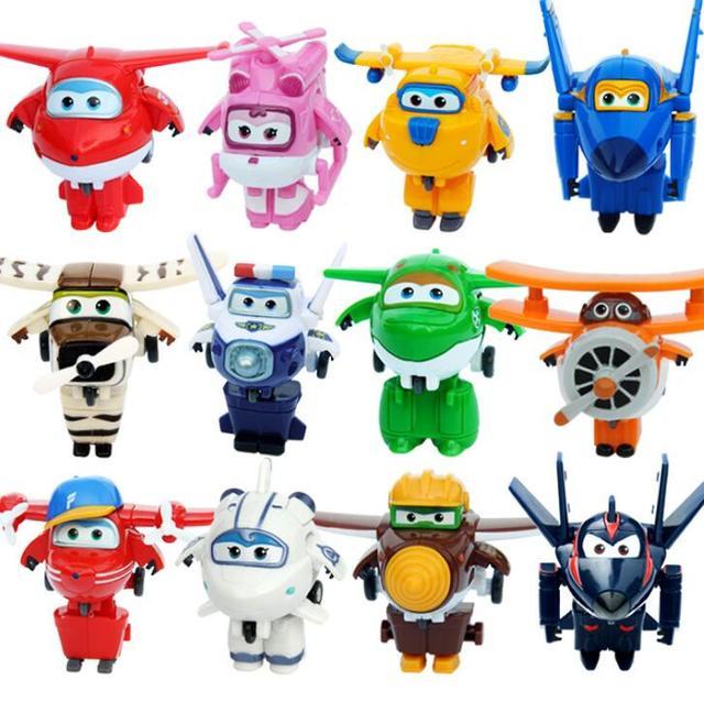 13 stili di Super Ali Action Figure Giocattoli Mini Aereo Robot Superwings Trasformazione Del Fumetto Del Anime Giocattoli Per I Bambini Del Ragazzo Regalo