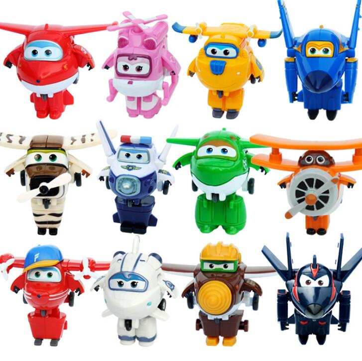 13 Styles Super Wings Action Figure Toys Mini Airplane Robot Superwings Transformation Anime Cartoon Toys For Children Boy Gift