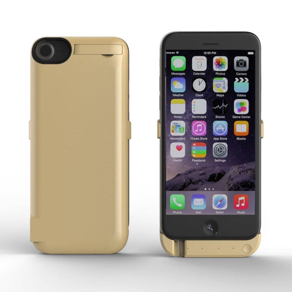 imágenes para Caja de batería de alta capacidad para el iphone 7 iphone 6s 6 potencia Caja de Batería Adicional banco Ultra Delgado Paquete Externo 6 S Cargador de copia de seguridad