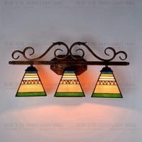 Southeast Asian style Tiffany Pyramid art glass wall lamp bar corridor decorative wall lamp