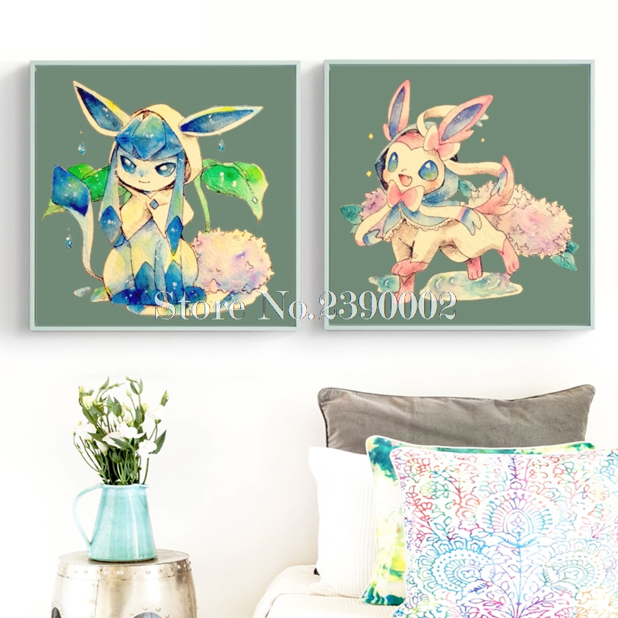 Animals 5D Diy Diamond Painting Cartoon Pokemon Cross Stitch Full Drill Mosaic Embroidery Game Image Needlework Kits Christmas image