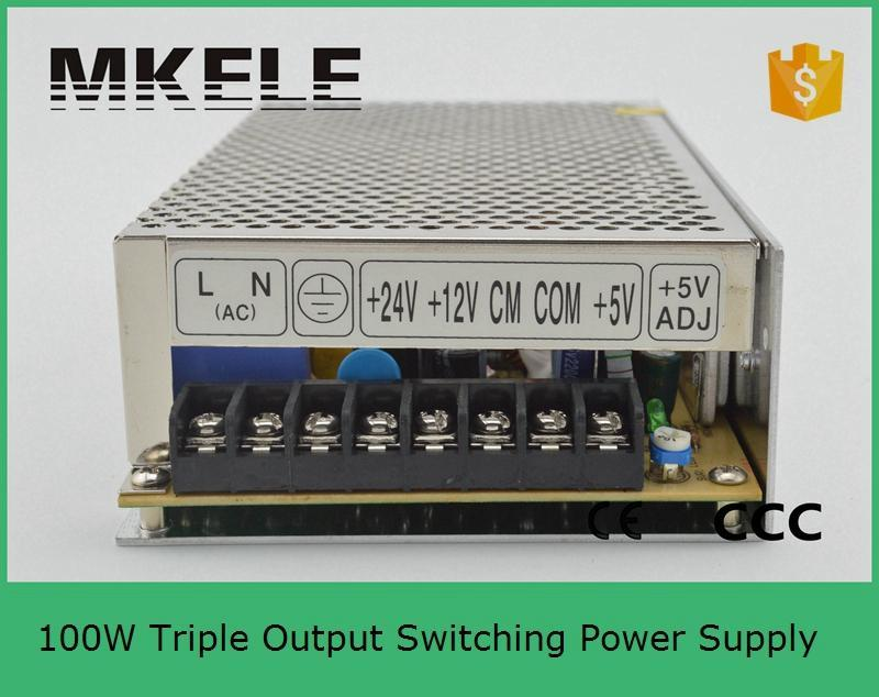 ФОТО Triple 100W 5V/6A 12V/2A 24V/2A Switching Power Supply for LED Strip Light, Input 110/220VAC T-100D
