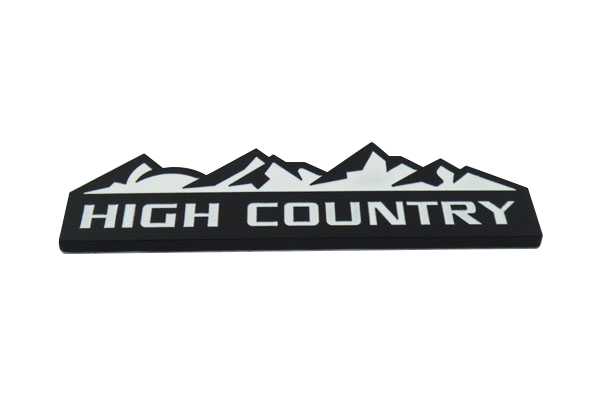 Chevy High Country White >> Auto car black white High Country for Silverado 1500 Emblem Badge Sticker -in Car Stickers from ...