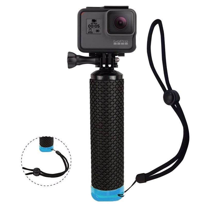 Black Color : Black Bobber Floating Handle Grip with Adjustable Anti-Lost Strap for GoPro New Hero //HERO6//5//5 Session //4 Session //4//3+ //3//2 //1 Xiaoyi and Other Action Cameras Durable