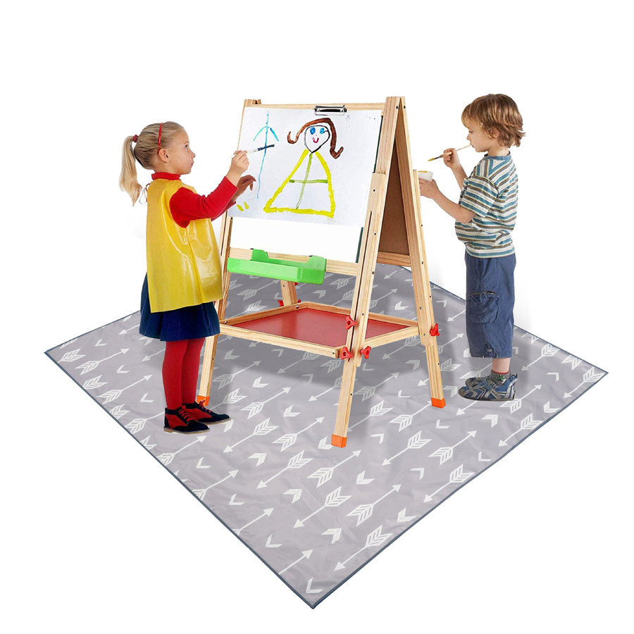 130 Cm Baby Kids High Chairs Floor Protector Splat Mat Playingmat For Playing Feeding Baby Booster Seats Mat Feeding Chair Mat