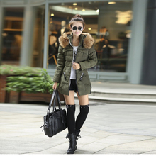 2016 Fashion Winter warm Fashion Hooded cotton down Jacket coat women Zipper Women s Thick Wadded