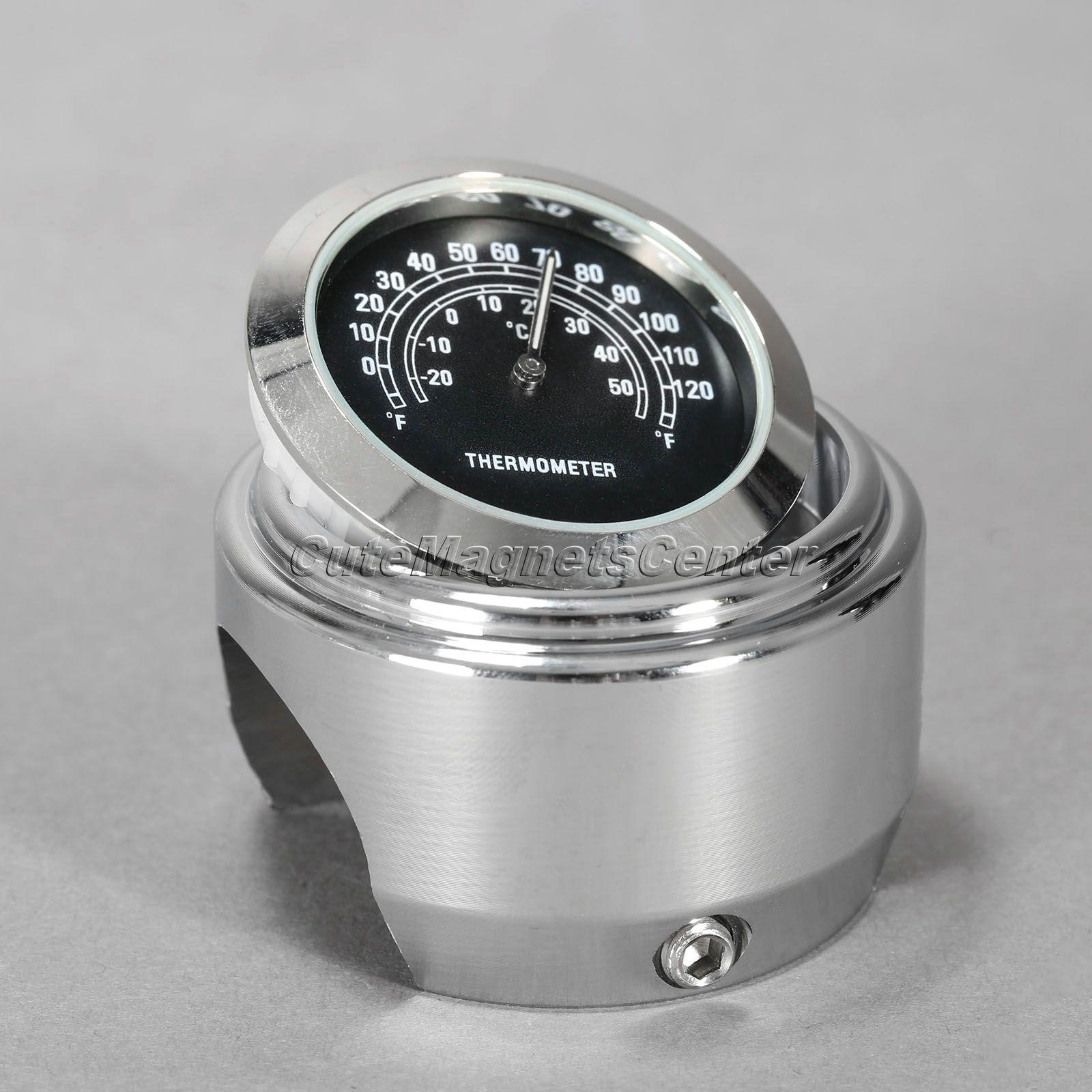 7-8-1-motorrad-lenker-schwarz-zifferblatt-uhr-thermometer-temperaturanzeige-motor-bike-f-r-honda-harley Elegantes Uhr Mit Temperaturanzeige Dekorationen