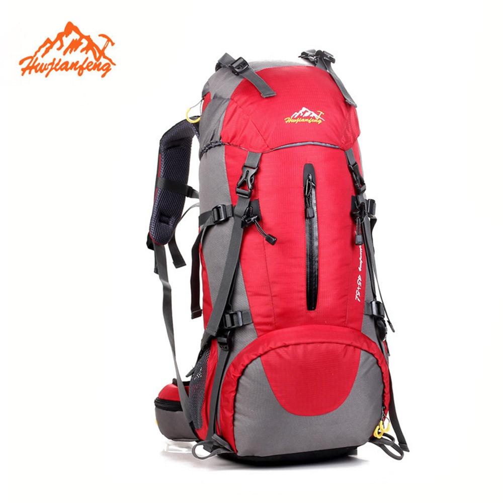 ФОТО 50L Hot Sale Men Women Backpack Travel Bag Rucksack Fashion Patchwork Multi Pocket Waterproof Backpacks bolsa