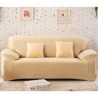 Capa de sofá elástico branco estiramento envoltório apertado all inclusive capas de sofá para sala de estar capa de sofá cadeira capa de almofada|Capa p/ sofá|   -