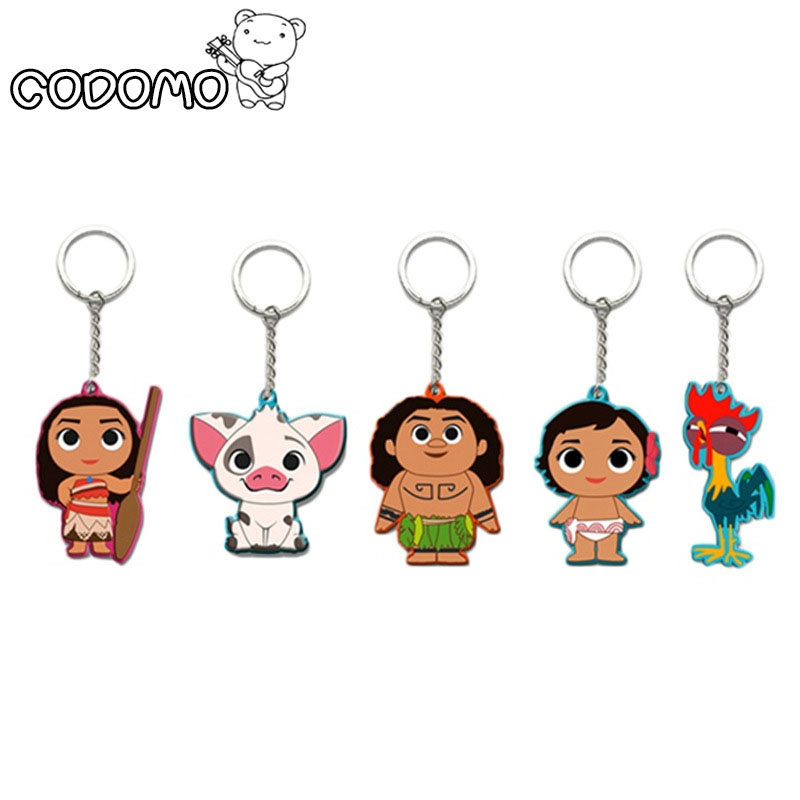 Movie Princess Moana Keychain Keyring Action figure Maui Adventure Accessories Key Rings Gift Toys Cute Cartoon Key Keyring all characters tracer reaper widowmaker action figure ow game keychain pendant key accessories ltx1