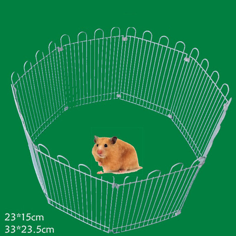Foldable Pet Playpen Iron Hamster Fence Kennel House Exercise Puppy Kitten Space Rabbits Hedgehogs Guinea Pigs Fences 2 Size