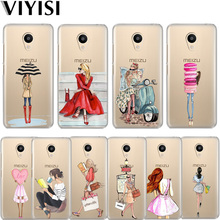 VIYISI For Meizu M6 5 Note Phone Case M5S 5C M3s 3Note Girl Pro6 U10 U20 Cover Fashion Personality Coque Shell Summer
