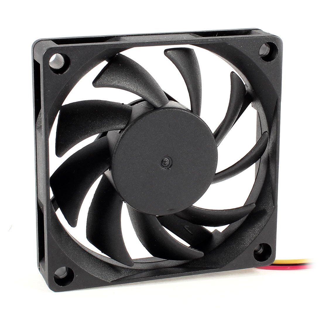 70x70mm 12V 3-Pin PC Computer Case CPU DC Brushless Cooler Fan Black 2016 New