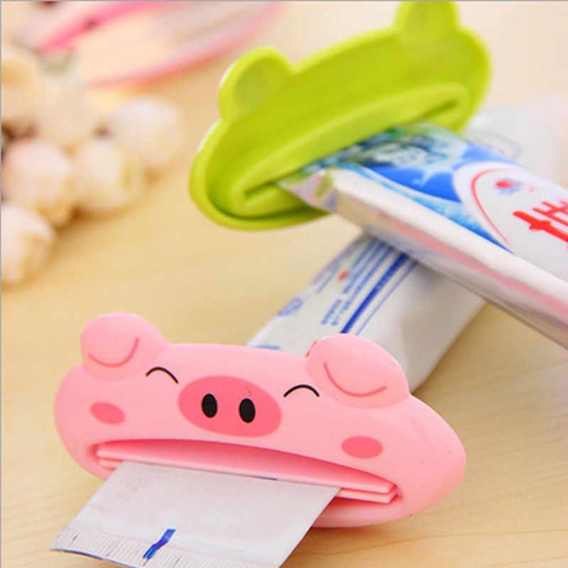 Kamar Mandi Rumah 1 PC 9 Cm * 4 Cm Tabung Bergulir Pemegang Pemeras Mudah Kartun Dispenser Pasta Gigi Aksesoris Piggy /FROG/Panda