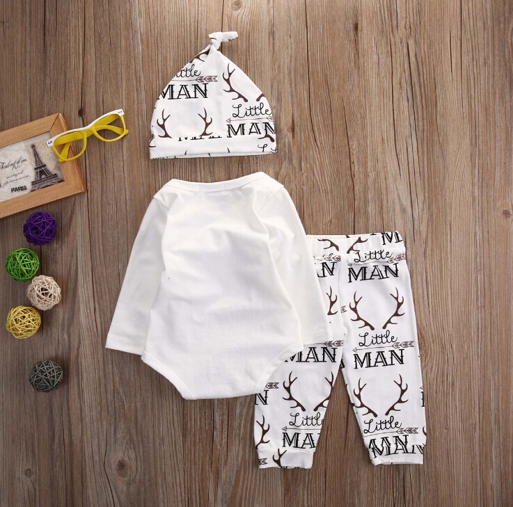 Newborn-Baby-boy-clothes-Newest-Addition-To-The-Family-letter-printed-Rompers-Pants-Hat-Outfit-Clothes (2)