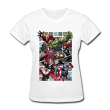 Brand New Women T Shirt Marvel Avengers League Casual T-Shirt Pure Cotton Crewneck Short Sleeve Custom T Shirt Thanksgiving Day