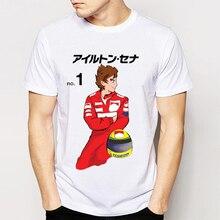 ab30cd18ea New Retro Dos Homens Originais do Projeto Camiseta Ayrton Senna Carro Fãs  Tops Camisetas Legal Meu Piloto Favorito T-shirt Stree.