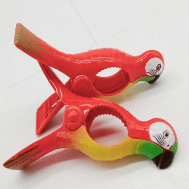 1 pz Pappagallo Uccello di Plastica Pistone Della Spiaggia Asciugamano Pinze Gra