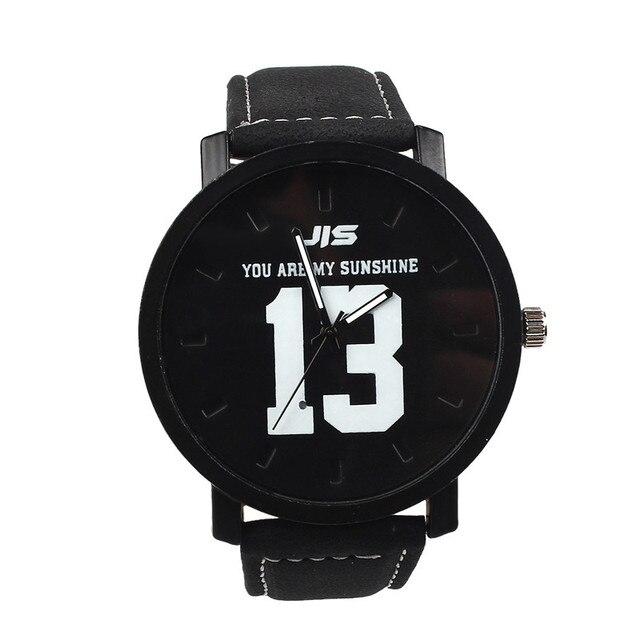 Fashion Lovers Men Women Leather Band Quartz Analog Wrist Watch