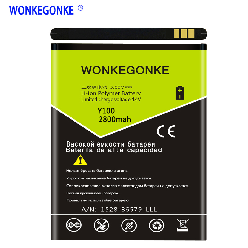 WONKEGONKE For <font><b>Doogee</b></font> <font><b>Valencia</b></font> <font><b>2</b></font> <font><b>Y100</b></font> Battery <font><b>Y100</b></font> <font><b>PRO</b></font> High quality mobile phone battery with tracking number image
