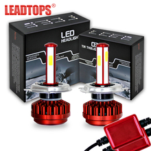 LEADTOPS H1 H4 H7 LED Headlight Bulb 9005 9006 COB 80W 8000LM All In One Headlights Car Light 6500K 12V 24V AE