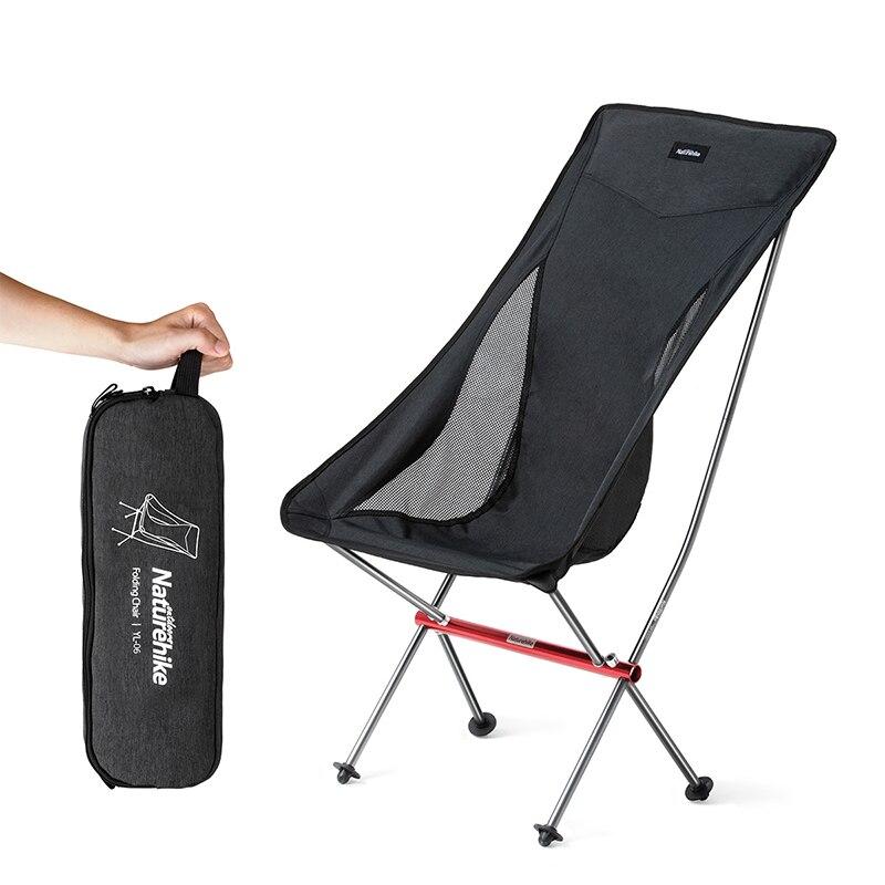 Chaise de Camping ultralégère Portable naturetrekking chaise de pêche pliante en plein air en alliage d'aluminium chaise de pique-nique de plage NH18Y060-Z