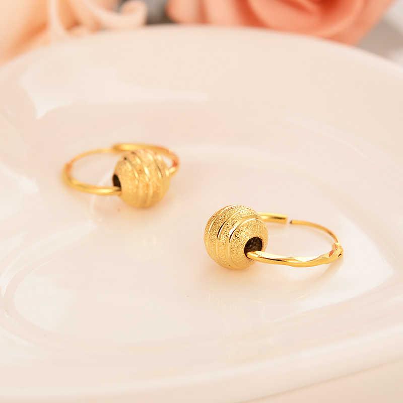 Złoty piękny serce koraliki serce spadek kolczyki dynda kolczyki Charms złoty biżuteria brincos w stylu Vintage dziewczyny boże narodzenie matka dla dzieci prezent dla dzieci