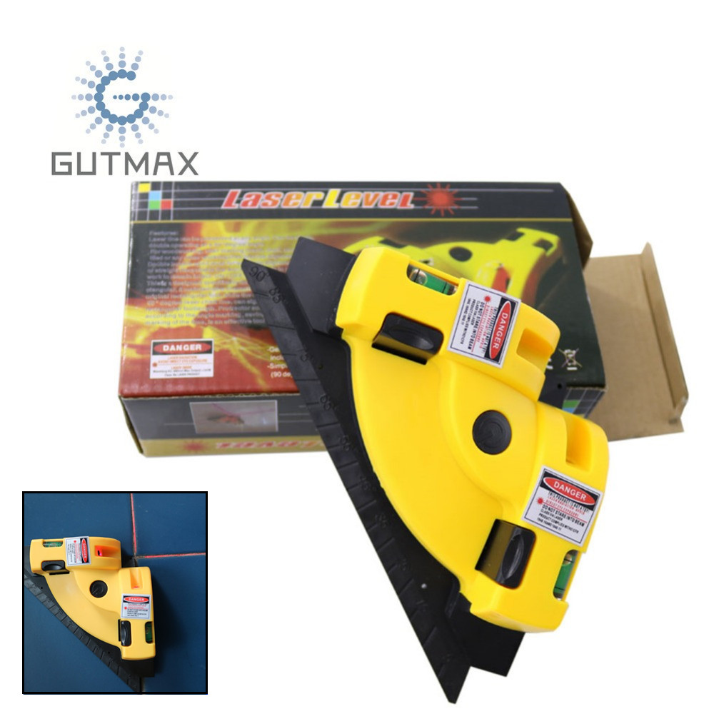 цена на GUTMAX 90 Degrees Infrared Laser Level Stick Ceramic Tile Right Angle Instrument Measuring Tools Laser Level Projection HY03