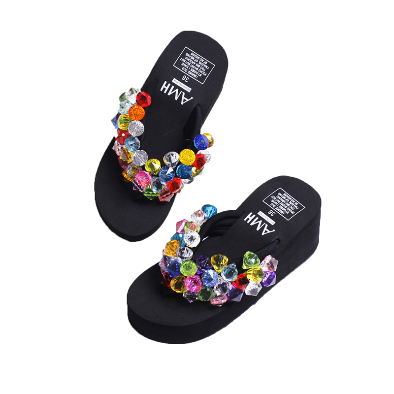 New Fashion Summer Crystal Transparent Diamond Rhinestone Colorful Flip Flop Anti-Slip Women Slippers Outdoor Beach Casual Shoes who is elton john