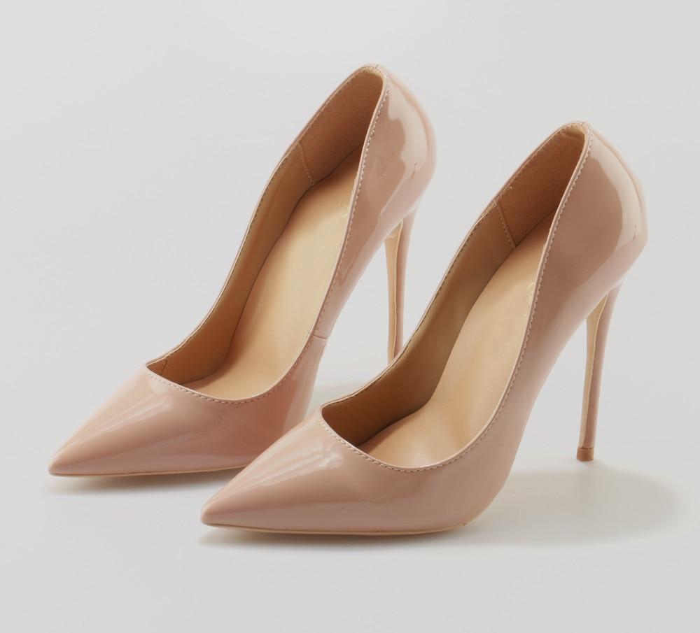 eddc54b72a7 Ladies Designer Shoes Women Luxury So Kate 12cm 10cm Patent Leather Black  Nude Heels Pigalle Fashion Wedding Shoes Women Pumps-in Women s Pumps from  Shoes ...