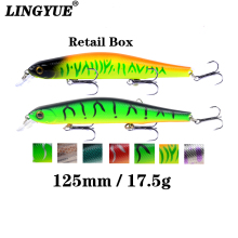 Купить с кэшбэком LINGYUE New Arrivals 1PCS Quality Minnow Fishing Lure 12.5cm/17.5g Long Shot Wobblers Artificial Bait Magnet Crankbaits Pesca