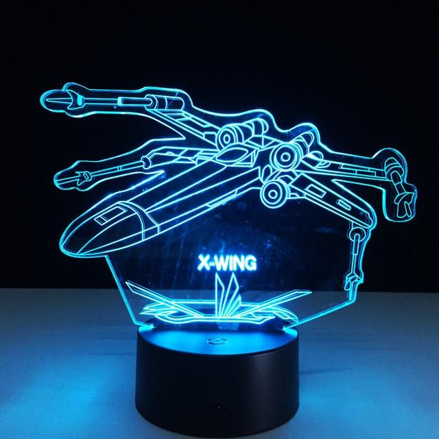 Star Wars! 3D X Wing Fighter Desk Lamp Laser Engraved ...