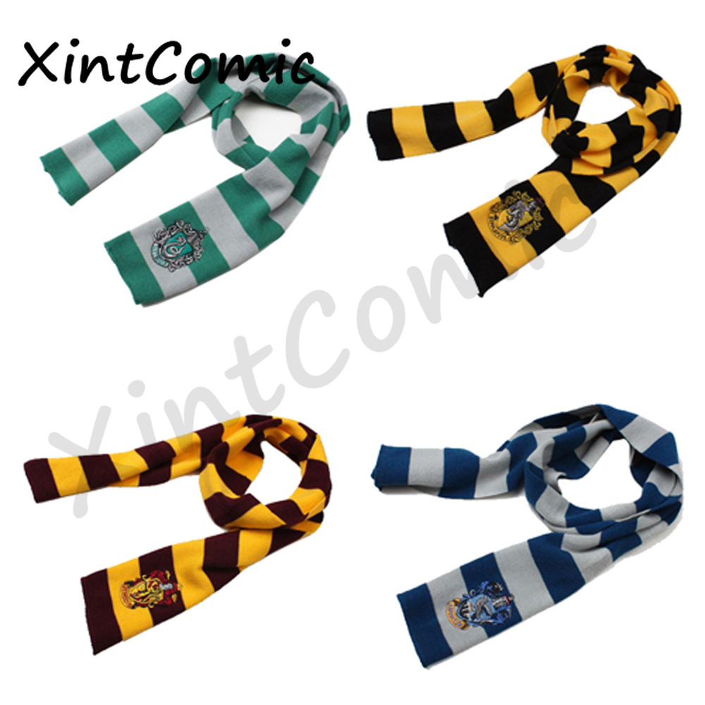 wholesale Harri Scarf Potter Scarf Gryffindor Slytherin Ravenclaw Hufflepuff Harri Potter Scarf Cosplay Costume Accessory Gift