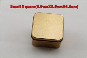 Image 4 - 10 개/몫 장식품, 웨딩 사탕, 잡다한 상품, 귀여운 선물, 철 재료에 대 한 골드 컬러 Tinplate 금속 Stroage 상자