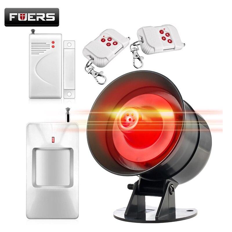 imágenes para En voz alta Nueva DIY Fácil ajuste Simple de operar Sistema Wireless Home Sistema de Alarma de Seguridad Sirena de Alarma de la Casa para el Almacén Garaje