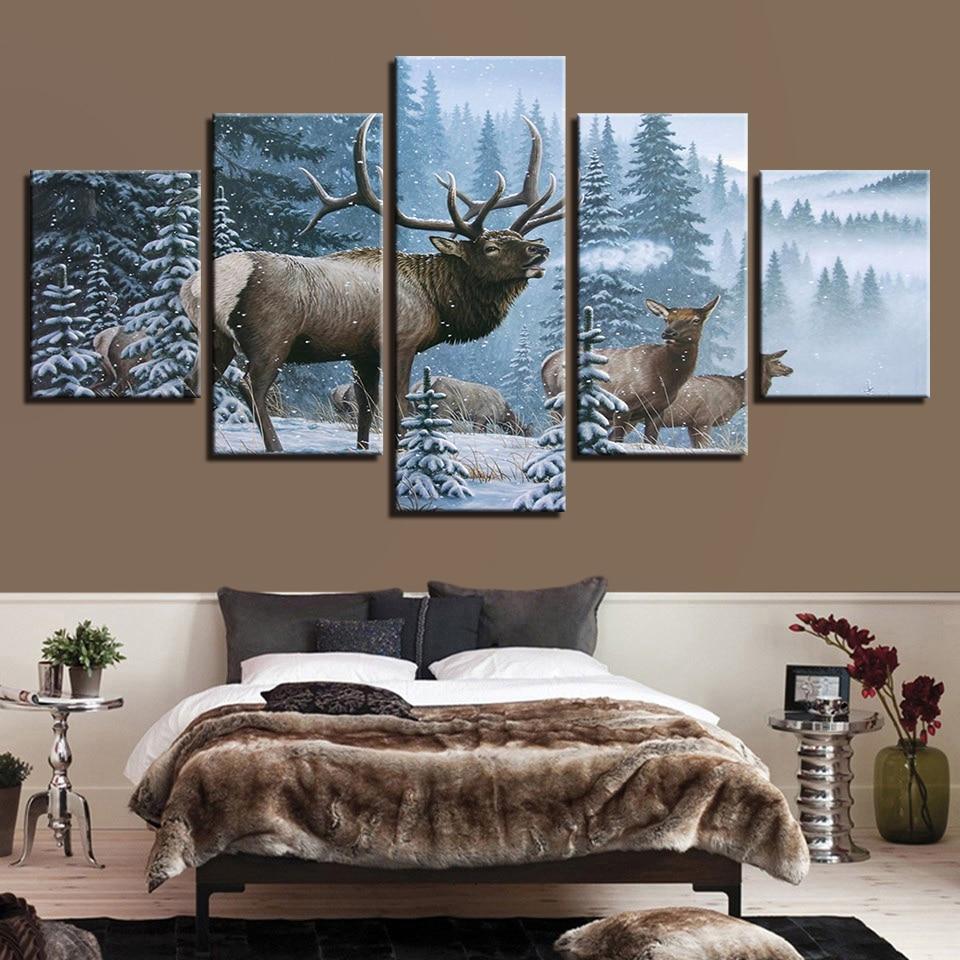 Leinwand HD Drucke Poster Wohnkultur Wandkunst Fashion Deer Bilder 5 ...