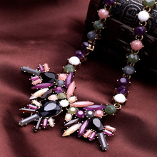 Fashion  accessories personalized multicolour  chain flower pendant necklace