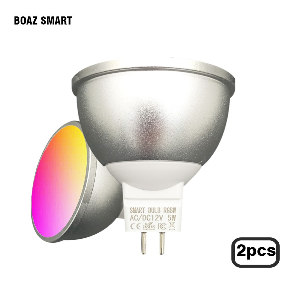 Boaz smart bulb Dimmable MR16 5W Led Bulb RGBW LED Spotlight Smart Home Works with Amazon Alexa and Google home