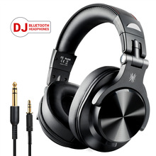 Oneodio Fusion Bluetooth Headphones Stereo Over Ear Wired/Wireless Headset Professional Recording Studio Monitor DJ Headphones binshi bs x6 professional hi fi over ear guitar style premium dj folding headphones with detachable cable black