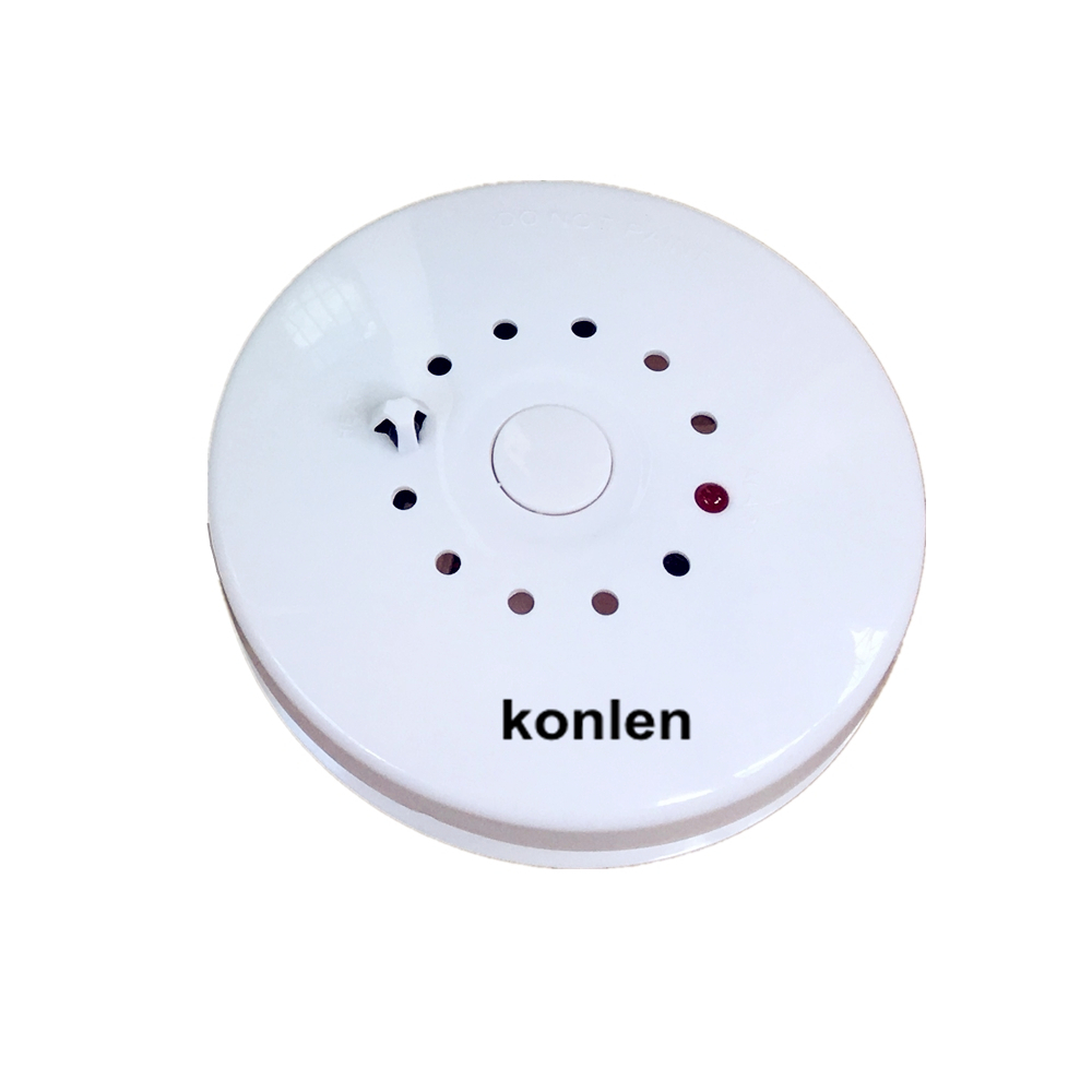 2 in 1 Smoke and Heat Detector Sensor combined for fire & temperature alarm, wired or standalone 2 pcs/lot.