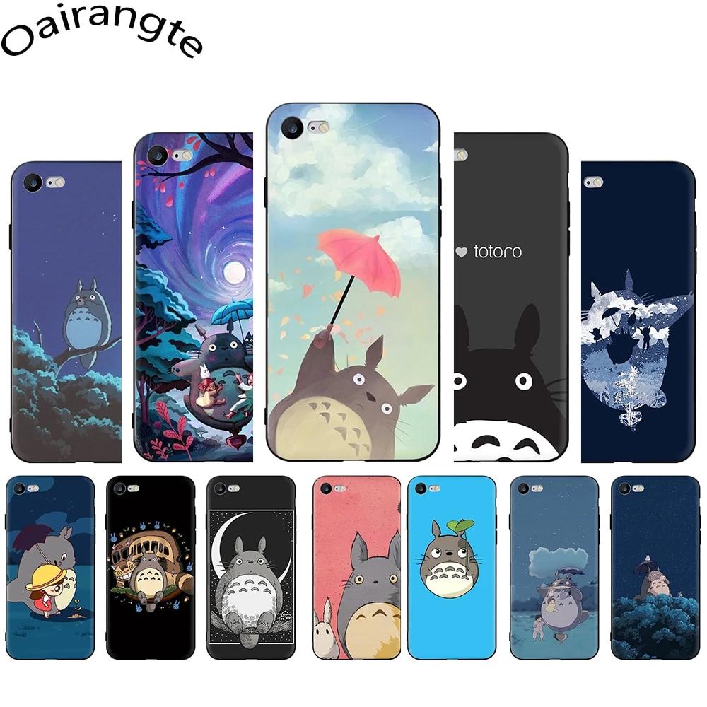 Studio Ghibli Ghiblies totoro Soft Phone Cover Case for iphone 12 Mini SE 2020 5 5S 6 6S Plus 7 8 Plus X XR XS 11 Pro Max