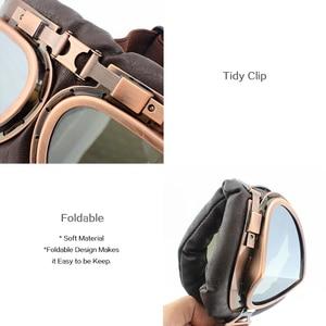 Винтажные очки для мотоциклетного шлема, пилота, искусственная кожа, для верховой езды, медь, для Harley Cruiser Chopper Cafe Racer Triumph