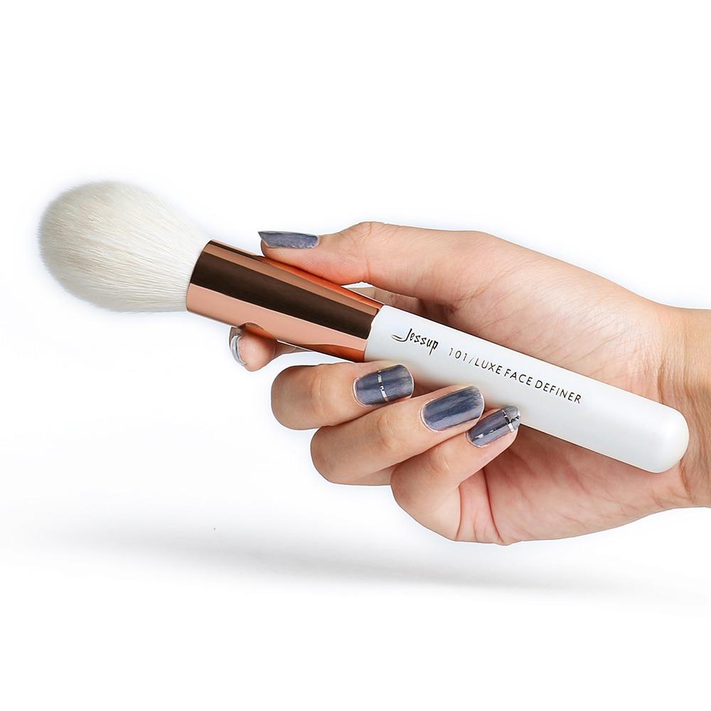 Jessup Perle Blanc/Rose Or Professionnel Pinceaux de Maquillage pinceaux de maquillage pinceaux kit ensemble de fondation Poudre Blush Beauté - 3