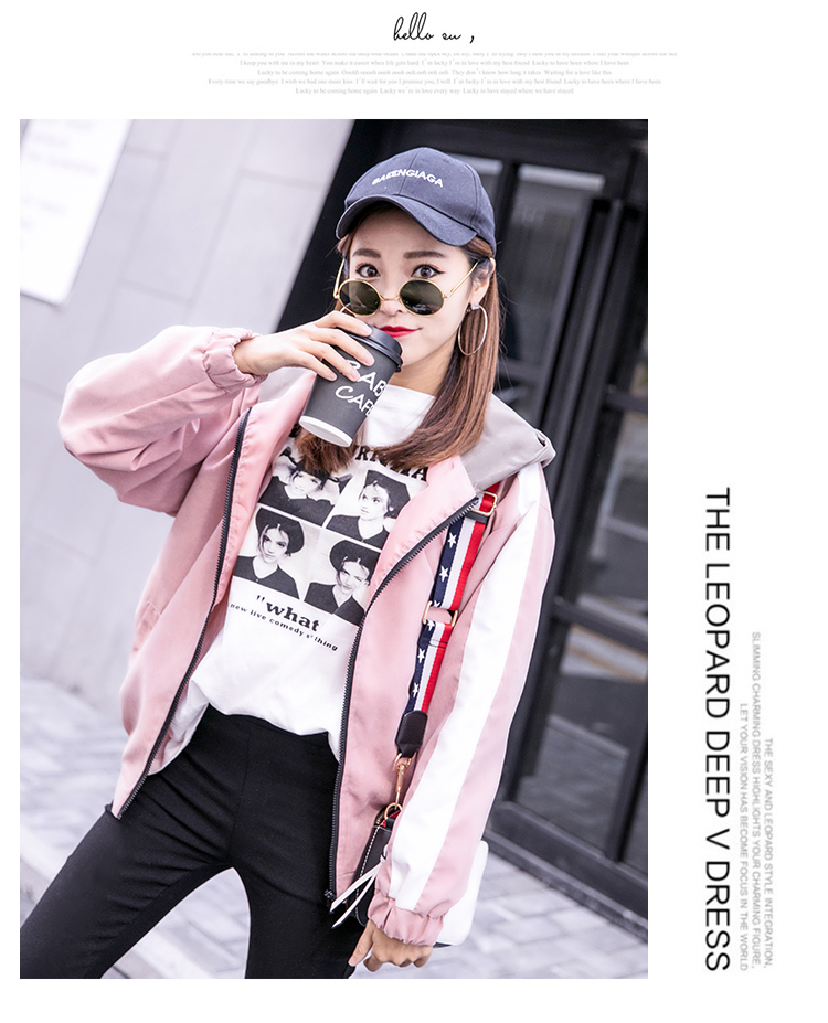 2019 Autumn Jacket Womens Streetwear Patchwork Hooded Totoro Jackets Kawaii Basic Coats harajuku Outerwear chaqueta mujer 51